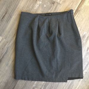 Banana Republic Pencil Skirt Gray Faux Wrap 14
